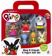 BING Bunny & Friends - 6 x Plastic Figurine Set Play Figures - Brand New