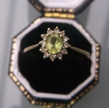 Women's 9ct Gold Vintage Peridot Ring Weight 1.5g Size N 1/2 Stamped Quality