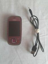 NOKIA 7230 3G Slide Rosa Telefono Cellulare con Caricabatterie USB NUOVO Non Piombo Spina VODAFONE