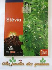 Graines de stévia rebaudiana plante remplace sucre diabétique