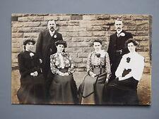 R&L Postcard: Edwardian Real Photo Portrait, Clothing/Ladies/Gentlemen
