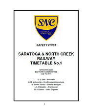 Saratoga and North Creek Employee Timetable #1 July 10 2011 ETT Reprint