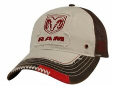 RARE NEW LICENSED DODGE RAM 1500 2500 LOGO COTTON WAX CLOTH CAP HAT MESH BACK!
