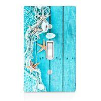 Home Decor Shells Starfish Net Blue Light Switch Plate Cover Beach Decor, Gift