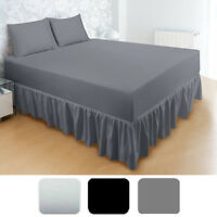 Ultra Soft Ruffled Bed Skirt - Durable, Pre Shrunk, And Comfortable In 3 Colors!