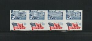 US EFO, ERROR Stamps: #2609a White House Imperf & miscut coil strip of 4! MNH