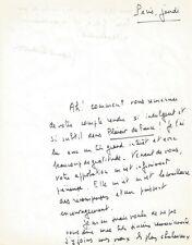 """Jean D'ORMESSON / Lettre autographe signée sur son roman """"La gloire de l'Empire"""""""