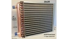 "16x20  Water to Air Heat Exchanger 1"" Copper Ports w/ EZ Install Front Flange"