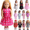 """Fits 18"""" Doll Toy Multi-style Handmade Fashion Doll Clothes Dress Suit Gift HOT"""