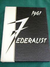 Portland Oregon Madison High School 1961 Federalist Annual Year Book