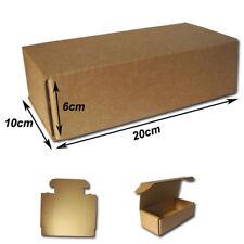 25  Cajas Postales 20x10x6cm Automontables de cartón canal simple. KRAFT MARRÓN