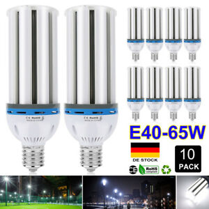 E40 65W LED Mais Licht Birne Glühlampe Lamp Leuchtmittel Energiespar Weiß 6500K