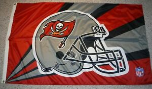 TAMPA BAY BUCCANEERS FLAG BANNER AWESOME 3 FOOT BY 5 FOOT TOM BRADY TIME!