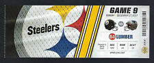 2017 NFL NEW ENGLAND PATRIOTS @ PITTSBURGH STEELERS FULL UNUSED FOOTBALL TICKET
