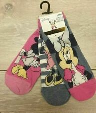 Primark Disney Minnie Mouse Ladies Girls Shoe Liners Socks 3 Pairs Pack 4-8 New