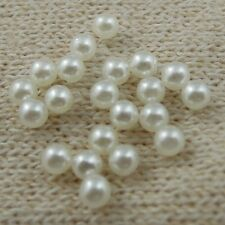2000pcs No Holes Pure White Small Pearls Necklace Making Jewelry Findings