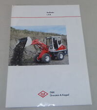 Prospekt / Broschüre O & K Radlader L 4 B