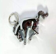 Chrome Ford Bronco Emblem / Logo Keychain w/ Bottle Opener