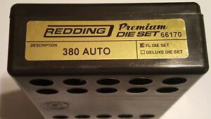 66170 REDDING PREMIUM TITANIUM CARBIDE 3-DIE SET - 380 AUTO - BRAND NEW