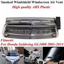 1x Smoke Windshield Windscreen Air Flow Vent For Honda Goldwing GL1800 2001-2014