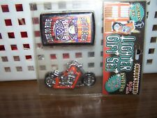 LIGHTER GIFT SET  LIVE TO RIDE, RIDE TO LIVE BIKER - LIGHTER & CIGARETTE  CASE