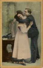 Boss Secretary Office Romance Typewriter Desks etc c1910 Postcard #18