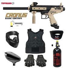 Tippmann Cronus Beginner Protective Hpa Paintball Gun Package - Black / Tan