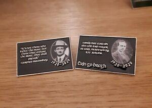 Republican Irish MacCurtain & MacSwiney Mayor Cork 1920-2020 Pin Badge Set Black