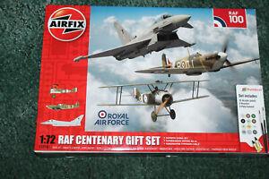 AIRFIX 1:72 RAF CENTENARY GIFT SET PLASTIC MODEL KIT - EUROFIGHTER ETC A50181
