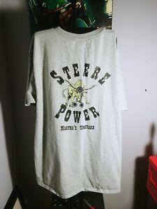 Vtg Martha's Vineyard T-shirt Steere Power Bull SZ. Large V-neck Oak Bluff