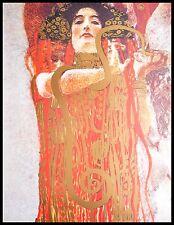 Gustav Klimt Hygieia Poster Kunstdruck Bild mit Alu Rahmen in schwarz 80x60cm