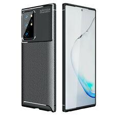 Hülle für Huawei P40 Pro Schutzhülle Silikon Case Schwarz Cover Carbon Optik