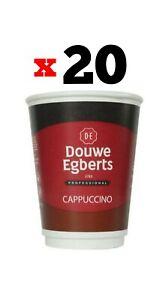 20 x Douwe Egberts Cappuccino drink 2 GO 12oz FreshSeal (2×10 cups) Exp:12/21