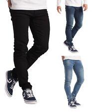 Mens Slim Fit Jeans Casual Denim Pants Stretchable Trousers Sizes 28-40