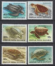 1984 PAPUA NEW GUINEA TURTLES SET OF 6 FINE MINT MUH/MNH