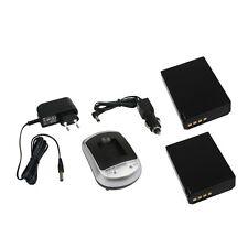 CARICABATTERIE + 2 Batterie per CANON EOS 1100d cavo di ricarica Alimentatore Caricabatterie Auto Batteria