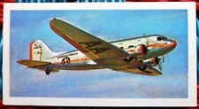 Brooke Bond History of Aviation tea card 19. Douglas DC-3 Transport Aircraft