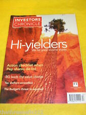 INVESTORS CHRONICLE - TAX SHELTERS UNRAVELLED - MARCH 31 2000