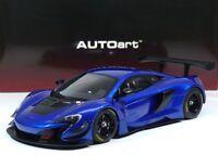 McLaren 650S GT3 (Blue / Black. Accents) Baujahr 2017 AUTOart 81641 1:18 Neu