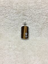 Authentic David Yurman Men's Sterling Silver Tiger Eye Stone Dog Tag