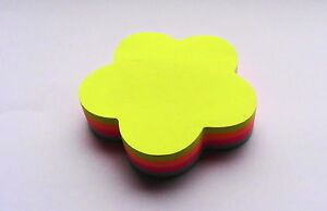Multicolour Neon Cloud Flower Bubble Novelty Sticky Note Block (Sticky Notes)