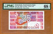 Netherlands, 25 Gulden, 1989, P-100, PMG-68, EPQ, Pre-Euro, Superb Gem UNC