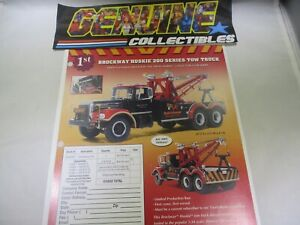 First Gear BROCKWAY HUSKIE 200 SERIES TOW TRUCK Order Form in Color #19-0045