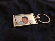 Personalised photo keyring. Metal photo keyring. Personalised metal key ring.