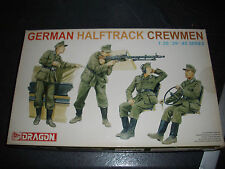 DRAGON  GERMAN HALFTRACK CREWMEN  PLASTIC MODEL 1/35