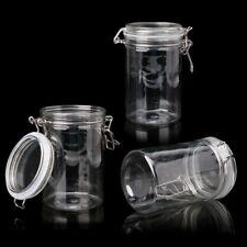 Glass Food Storage Jar With Air Tight Sealed Metal Clamp Lid Tall Kitchen Cruet