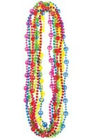 60's DECADE PARTY BEADS PACK OF 10 PARTY FASHION COSTUME ACCESSORIES