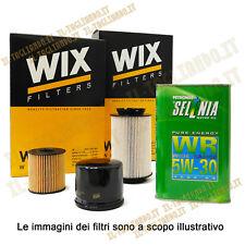 Kit tagliando Giulietta 1.6 JTDM 105 cv 77 kw 4 filtri wix 5lt Selenia WR 5w30