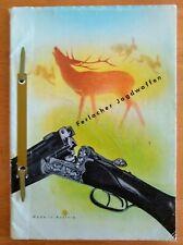 Rare Ferlacher Jagdwaffen Vintage 50's gun catalog Not a reprint, 80 pages
