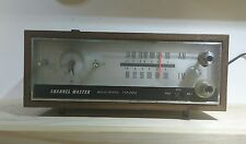 VINTAGE Channel Master Solid State Table Radio Clock Wooden Model 6271A WORKING